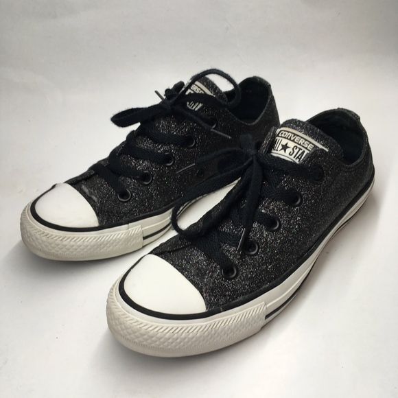 40a53f68eec2 Converse Shoes - Converse All Star Womens 6 Black Glitter Shoes